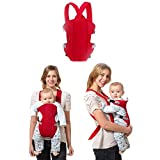 Sealive Infant Baby Carrier Sling Wrap Rider Infant Comfort Backpack Children Gear,Breathe Soft Carrier Baby Backpack for 3-24 months Baby Boys Girls(Red)