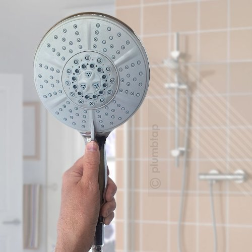 Arian Excite Large 5 Mode Shower 150mm Head Handset Chrome Universal Five Functions EcoSpa®