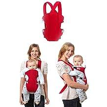 Sealive Infant Baby Carrier Sling Wrap Rider Infant Comfort Backpack Children Gear,Breathe Soft Carrier Baby Backpack for 3-24 months Baby Boys Girls(Red)