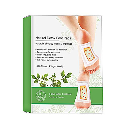 Allbesta 5 Paare Wormwood Vinegar Ginger Foot Pads Detox Detoxification Dampness Expelling Dispel Cold Herbal Sticker Foot Patch