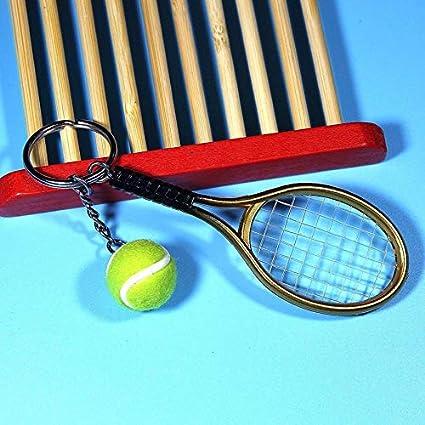 Yogasada Mini Raqueta de Tenis Colgante Llavero Llavero del ...