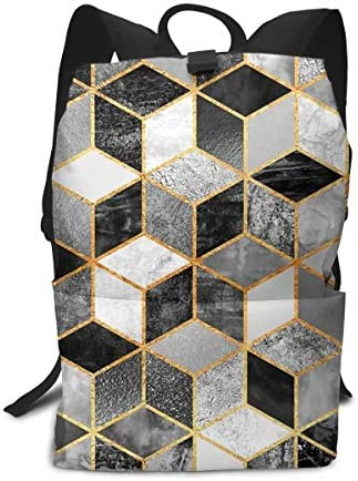 aiyouwuqu-Black & White Cubes Lightweight Backpacks Casual School Bags Daypacks Laptop Backpack Adult Backpack Men and Women
