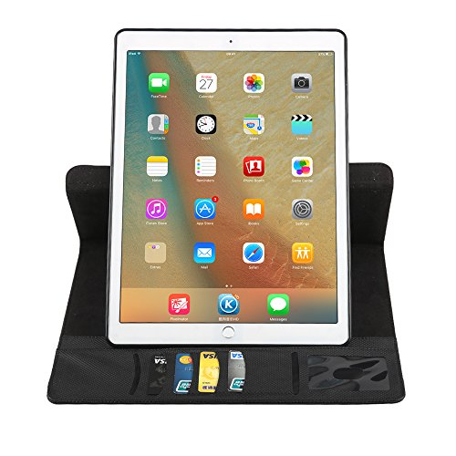 BoriYuan iPad Mini 360 Degree Rotating Stand PU Leather Case Protective Flip Folio Detachable Soft Rubber Cover For Apple iPad Mini 1/ Mini 2/ Mini 3 with Card Slot+Screen Protector+Stylus (Black) Photo #5