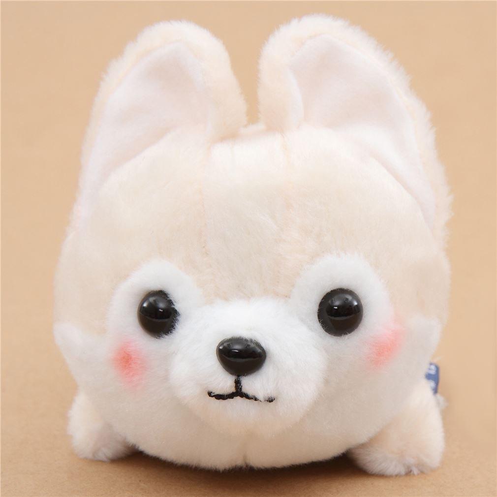Peluche kawaii perro crema pañuelo rojo Mameshiba San Kyodai de Japón: Amazon.es: Juguetes y juegos