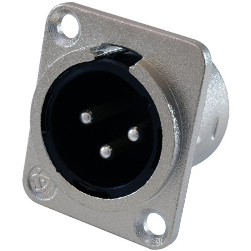 GLS Audio XLR Male Jack 3 Pin - Panel Mount Jacks D Series Size XLR-M - 20 PACK by GLS Audio (Image #1)