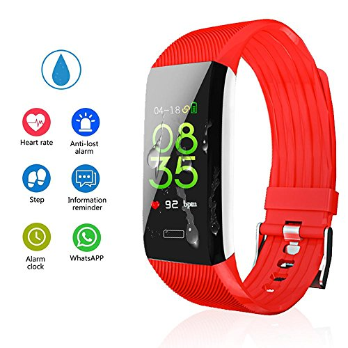 """Teepao Fitness Tracker With Heart Rate Monitor,0.96"""" OLED Screen Fitness Watch Pedometer,IP67 Waterproof Step Calorie Distance Counter For Android IOS,USB Charging No Cable Needed"""