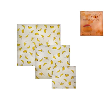 Boddenly Beeswax Wraps and Reusable Produce Bags, 3Packs, Eco-Friendly, Sustainable Food Storage, Home, Refrigerator, Kitchen - Bee's Wrap Assorted 3 Pack