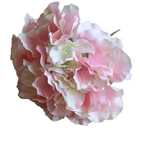Calcifer 10 Pcs Mallorca Hydrangea Flowers Artificial Flowers for Home Garden Wedding Bohemia Hat Decor (Pink)