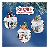 Rudolph The Red-Nosed Reindeer Sleigh Bells Ornaments: Set One by The Ashton-Drake Galleries