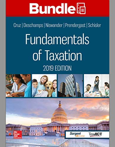GEN COMBO LOOSELEAF FUNDAMENTALS OF TAXATION 2019; CONNECT ACCESS CARD