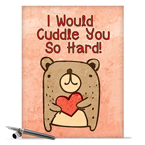J2197 Jumbo Valentine's Day Card: Cuddle You So Hard With Envelope (Extra Large Version: 8.5'' x 11'')