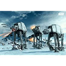 Star Wars: Episode V - The Empire Strikes Back - Movie Poster / Print (The Battle Of Hoth - At-At Fighters) (Size: 91.5cm x 61cm)