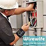Magnetic Wristband - 15 Magnets for Holding Screws Nails Drilling Bits Gift for Men Him Dad DIY Handyman Electrician Husband Boyfriend Father Women Birthday Ideas (one pack)
