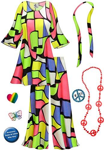 Cool Cat 2PC Plus Size Supersize Hippie Costume Basic Kit 3x