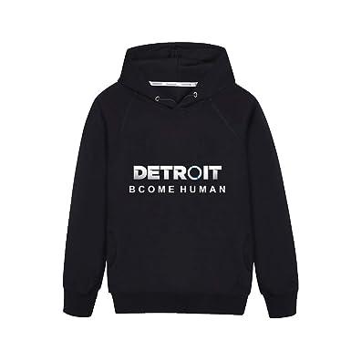 Detroit Become Human Abrigo con Capucha Sudaderas Sueter Hoodie Caída Invierno Jacket Coat Outwear Moda Otoño Invierno Sudaderas con Capucha para Novio Y ...