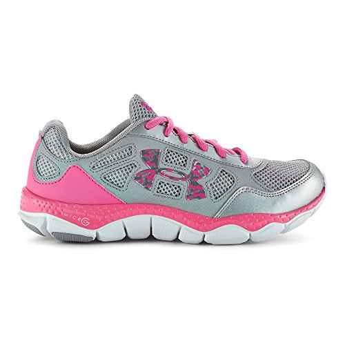 Kids Under Armour Girls GS Micro G Engage BL, Metallic Silver, 6 Big Kid M by Under Armour