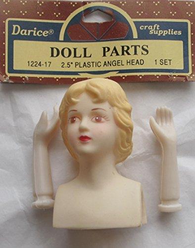 DARICE Craft Set of 1 Plastic 'Angel' Doll Head Vinyl 2-1/2