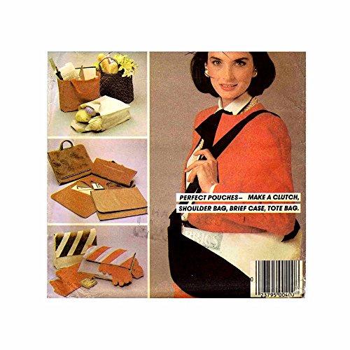 1980s Clutch Tote Briefcase Shoulder Bag McCalls 8828 Vintage Sewing Pattern ()
