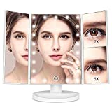 #10: MayBeau Makeup Vanity Mirror with 7X/5X Magnification and 21 LED Lights, Touch Screen, 180 Degree Adjustable Rotation, Dual Power Supply