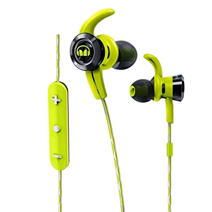 Monster iSport Victory - Auriculares Deportivos Tipo In-Ear con Bluetooth, Color Verde