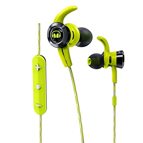 ddba7560c6a Monster Cable iSport Victory In-Ear Wireless Headphones with Built-In Mic,  Green