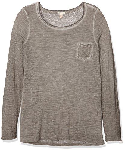 ESPRIT, Camisa para Mujer Gris (BROWN GREY 025)