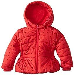 Rothschild Baby Girls\' Flocked Jacket, Lollipop Red, 18 Months