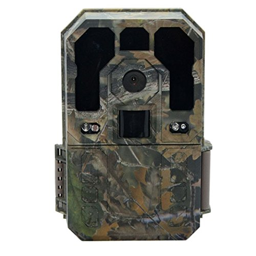 日本語メニュー搭載トレイルカメラ 迷彩グリーン IP54防水 タイムラプス録画 不可視赤外線 防犯カメラ 無線 SDカード録画/録音 FMTSW0080GR B01DK9VNC6