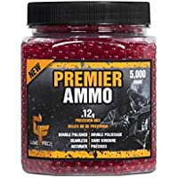 GameFace ASP512 Premier Ammo .12-Gram Red Airsoft BBs (5,000-Count)
