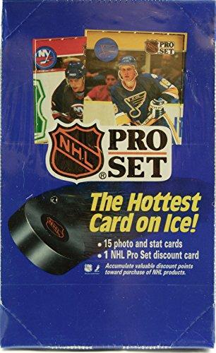 (1990 - Pro Set - NHL - English / Series 1 National Hockey League Wax Pack - 36 Packs Per Box - OOP / MIB - Collectible )