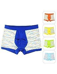 Aivtalk Cartoon Organic Cotton Stretch Moisture Permeability Printing 5 Pack Boys Underwear Boxer Briefs Panties Size 4T