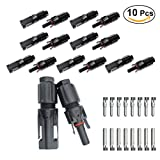 UKCOCO 10 Pair of MC4 PV Connectors DC 1000V TUV 30A Male + Female M/F for Solar Panel AWG14/12/10 Cable HS358