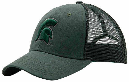 NCAA Michigan State Spartans Adult Unisex Industrial Canvas Mesh Cap, Adjustable, Cypress/Cypress/Cypress