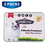 Cat Tick and Flea Collar - 8 Months Protection - Waterproof - All Sizes - 2 Packs