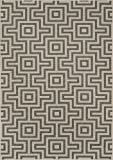 Nolita Rugs Abbot Polypropylene Grey Indoor/Outdoor Rug 3'11'' X 5'7''