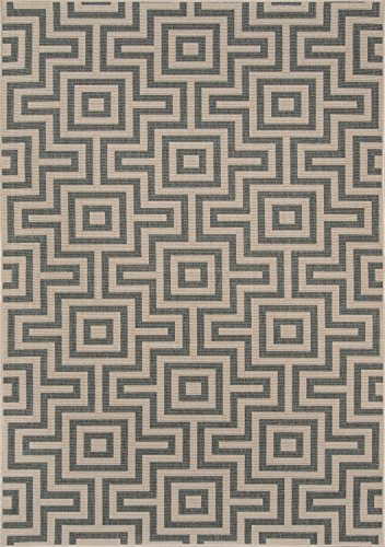 Nolita Rugs Abbot Polypropylene Grey Indoor/Outdoor Rug 3'11'' X 5'7'' by Nolita Rugs