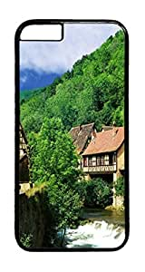 Geographical landscape ID04 PC Case Cover for iphone 6 Plus 5.5inch - Black