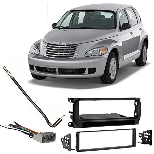 Pt Cruiser Stereo - Fits Chrysler PT Cruiser 2002-2005 Single DIN Harness Radio Install Dash Kit