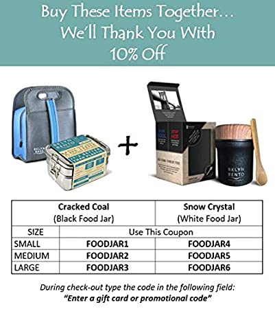 e3dc9dd2fdb9 Lunch Box Bento Box With Neoprene Lunch Bag Bundle - Large Stainless ...
