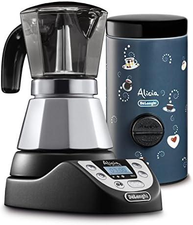 DeLonghi EMKP42.B - Cafetera eléctrica Alicia Plus, color plata Alicia Plus + dosificador de café Nero/Blu: Amazon.es: Hogar