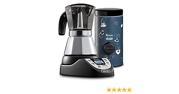Cafetera el/éctrica Alicia Plus DeLonghi EMKP42.B color plata Alicia Plus dosificador de caf/é Nero//Blu