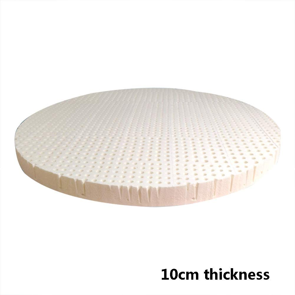 Natural Latex Round Mattress Pad,Breathable Durable Removable&Washable Sleep Supportive & Pressure Relief Bed Mattress for Student Dorms-d 220x220cm(87x87inch)