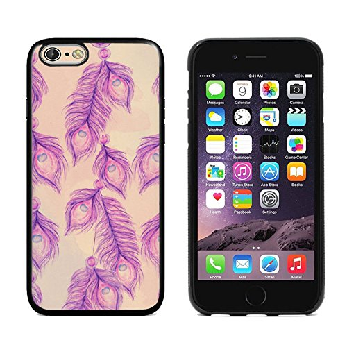 Apple iPhone 6s Plus case,DOO UC (TM) TPU 3D pattern Case for iPhone 6s Plus Black case The purple peacock tail (The Perfect Purple Feather)