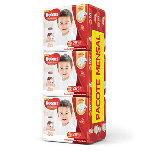 Huggies Pacote Mensal Supreme Care Mega XG, 156 Fraldas, XG