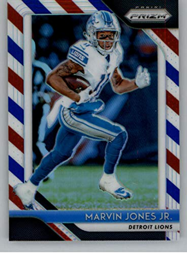 2018 Panini Prizm Prizm Red White and Blue Football #137 Marvin Jones Jr. Detroit Lions Official NFL Trading Card Exclusive Parallel From Fat Pack ()