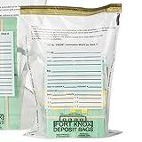 9W x 12H Clear Deposit Bags w/External Pocket - 500/Case