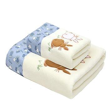 YaNanHome Toalla Absorbente Gruesa Toalla de baño para Adultos Aumento Toalla de baño Suave de Dibujos Animados Pelusa Opcional 1 Toalla + 1 Toalla Conjunto ...