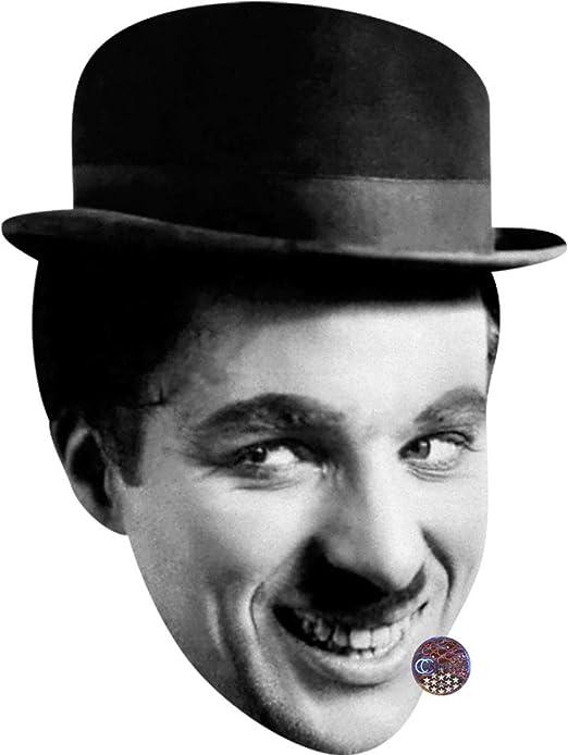 Card Face and Fancy Dress Mask Charlie Chaplin Celebrity Mask