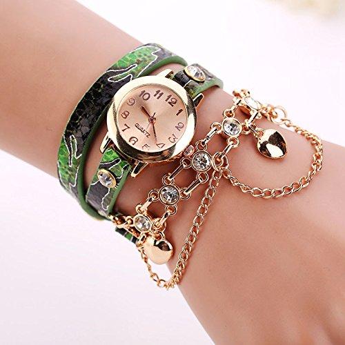 Amazon.com: Women Rivet Chain Watches Sale, Women Vintage Analog Quartz Watch Rhinestone Bracelet Wrist Watch: Cell Phones & Accessories