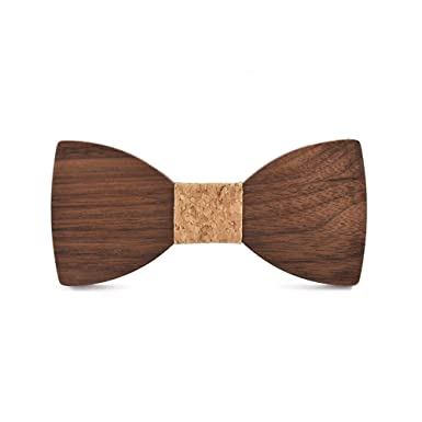 YYIILL Corbata de moño Arco de madera Hecho a mano Trabajo retro ...